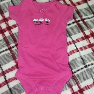 Carters baby girl onesie size 3 months
